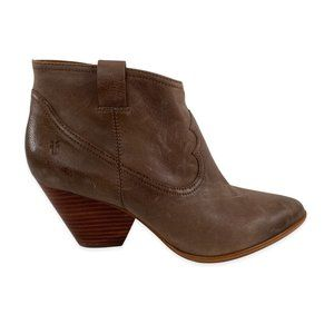 NWOB Frye Reina Pointed Toe Leather Ankle Boots